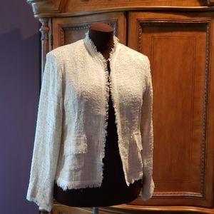 Chicos crystal tweed jacket
